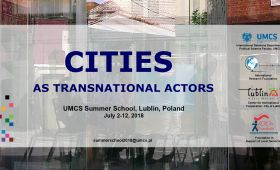 CITIES AS TRANSNATIONAL ACTORS Summer School 2018