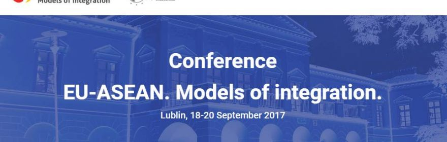 "Conference ""EU-ASEAN. Models of integration"", September..."