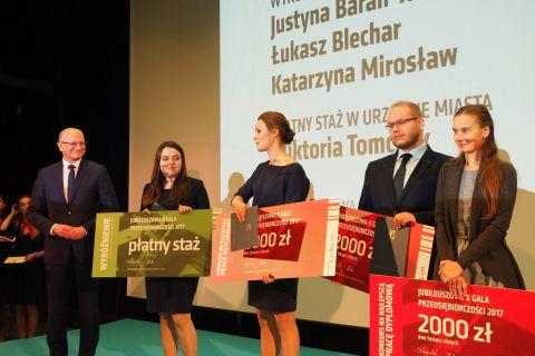 Laureaci Jubileuszowej X Gali Przedsiębiorczości 2017