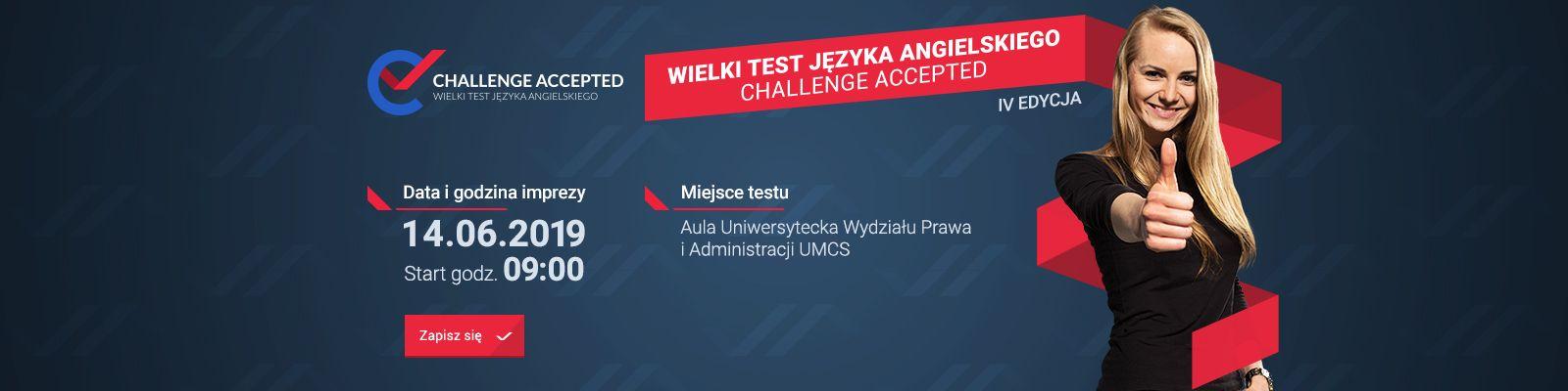 """IV edycja Wielkiego Testu Języka Angielskiego """"Challenge..."""