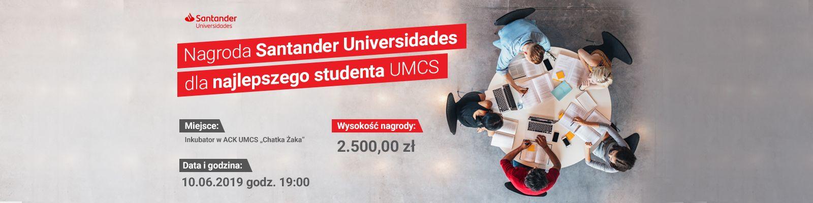 Nagroda Santander Universidades dla najlepszego studenta...