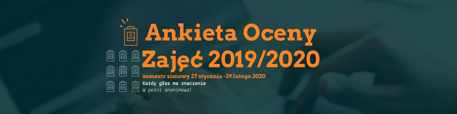 Ankieta Oceny Zajęć - semestr zimowy 2019/2020