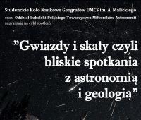 Gwiazdy i skały - czyli bliskie spotkania z astronomią i...