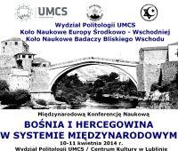 Bośnia i Hercegowina w systemie międzynarodowym