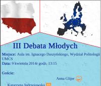 Politologiczne Koło Naukowe zaprasza na III Debatę Młodych