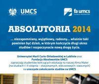 Zapisy na Absolutoria UMCS 2014 - do 10 maja