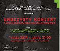 Koncert z okazji 10. lecia wstąpienia Polski do UE