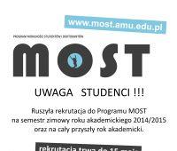 MOST - Rekrutacja do 15 maja 2014