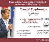 """""""Zawód Dyplomata"""" – wykład otwarty"""
