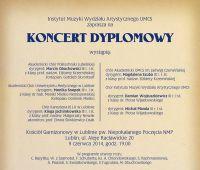 Koncert dyplomowy