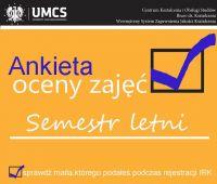 Ankieta Oceny Zajęć- semestr letni