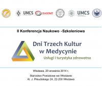 II Konferencja Naukowo-Szkoleniowa - Dni Trzech Kultur w...