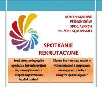 Zaproszenie Koła Pedagogów Specjalnych
