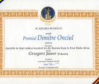 Nagroda dla Prof. Grzegorza Jawora