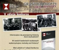 """""""Grant Oral History"""" Edycja V Konkursu"""