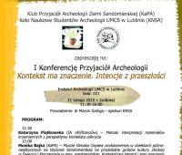Konferencja Koła Naukowego Studentów Archeologii