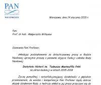 Dyplom dla Prof. Małgorzaty Willaume