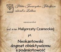 PTF: Neokantowski dogmat obiektywizmu a podmiotowość