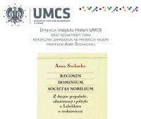 Zaproszenie na promocję książki prof. Anny Sochackiej