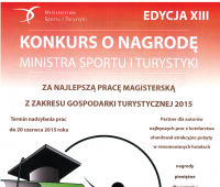 XIII edycja Konkursu o nagrodę Ministra Sportu i...