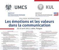 """""""Emocje i wartości w komunikacji"""" 23-25..."""