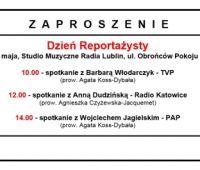 Dzień Reportażysty - zaproszenie