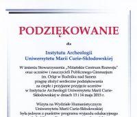 O archeologii z młodzieżą