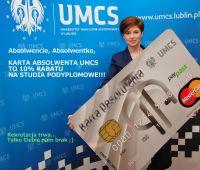 Z Kartą Absolwenta UMCS zniżka na studia podyplomowe -...