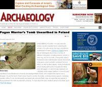 """Sandomierskie odkrycia w """"Archaeology"""""""