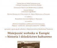 """Konferencja """"Mniejszość wołoska w Europie"""""""