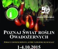 1-4 października: Wystawa roślin owadożernych
