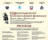 VI Międzynarodowe Sympozjum Dziejów Biurokracji