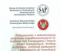 Konferencja Sekcji Archiwów Instytucji Naukowych i...