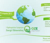 """I Ogólnopolskie Sympozjum Energii Odnawialnej """"OZE –..."""