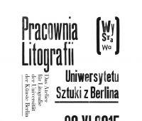 Pracownia litografii Uniwersytetu Sztuki z Berlina w...