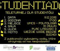 """""""Studentiada"""" – zaproszenie!"""
