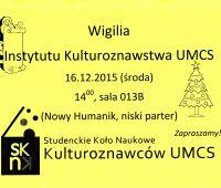 Wigilia Instytutu - 16.12.2015