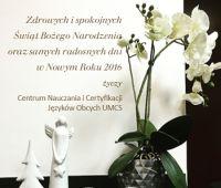 Życzenia Świąteczne od Centrum Nauczania i Certyfikacji...