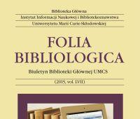 """""""Folia Bibliologica"""" czasopismem punktowanym przez MNiSW"""