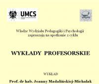 """Cykl """"Wykłady Profesorskie"""""""