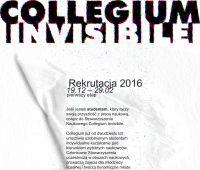 Zaproszenie do Rekrutacji do Collegium Invisibile 2016