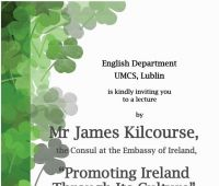 Prelekcja konsula Irlandii Jamesa Kilcourse'a