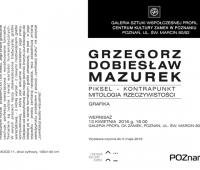 GRZEGORZ DOBIESŁAW MAZUREK PIKSEL - KONTRAPUNKT MITOLOGIA...
