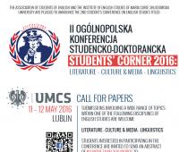 "Konferencja ""Students' Corner 2016"""