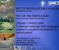 POGANIE I CHRZEŚCIJANIE - wykład prof. A. Buko