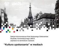 """""""Kultura upokarzania"""" w  mediach - seminarium..."""