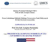 Wykład dot. prezydenckiej kampanii wyborczej w USA