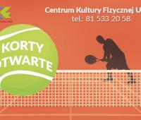 Korty tenisowe CKF już otwarte!