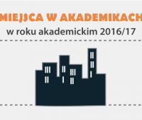 Wolne miejsca w akademikach na rok 2016/2017