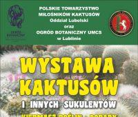 Wystawa Kaktusów i innych Sukulentów - zaproszenie